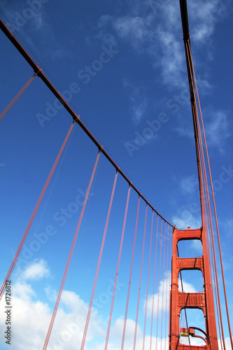 canvas print picture brückenpfeiler der golden gate bridge