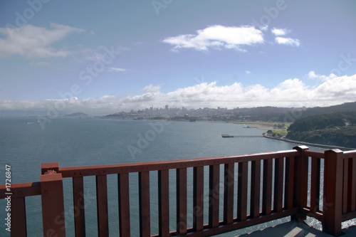 canvas print picture san francisco von der golden gate bridge aus