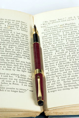 old book & pen