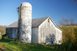 abandoned barn and silo