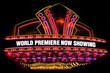 Leinwanddruck Bild - movie theatre marquee