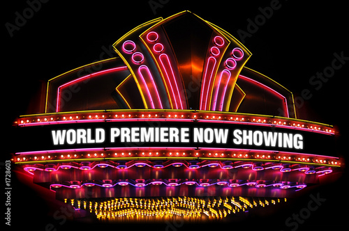 movie theatre marquee - 1728603