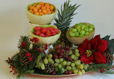 holiday fruit display poster