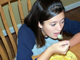 teen eating soup poster