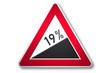 verkehrszeichen 2006: steigung 19 prozent