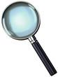 chrome magnifying glass