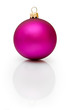 purple christmas ball