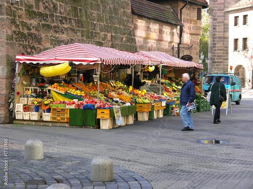Papiers peints Au marche marktstand