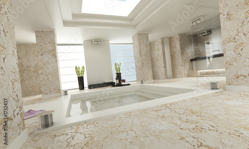 bathroom luxe marble white