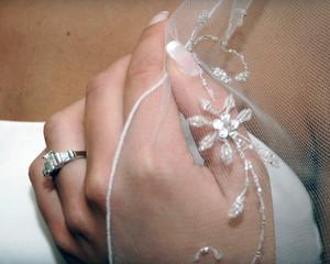 bride hand detail