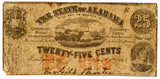 25 cent confederate bank note poster