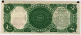 vintage five dollar bill poster