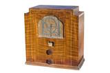 wooden radio poster