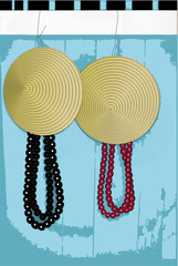 vietnamese hat and beads