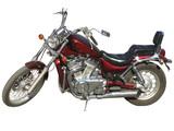 claret motorcycle.