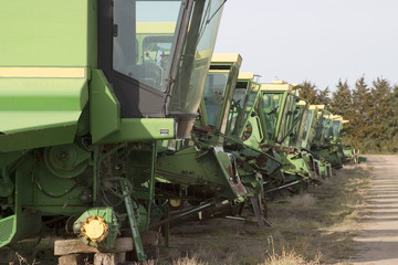old harvester boneyard