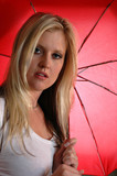 red parasol poster