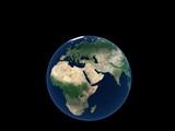 logo - model of earth poster