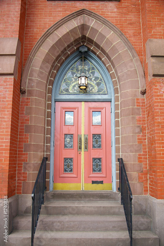 church door with mail slot