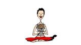 woman doing spirit/soul meditation.yoga.control poster