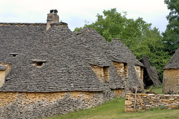 stone huts in breuil, france