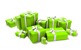 Fototapety green box present