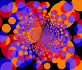 fractal background - round colorful shapes 2 poster