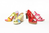 colourful array of shoes poster