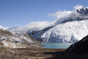 village of gokyo and dudh pokhari