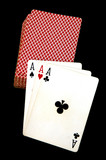 three aces and the deck poster