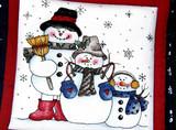 christmas design on a tea pad poster