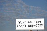 blank business billboard poster