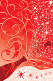 christmas sparks of a champagne poster