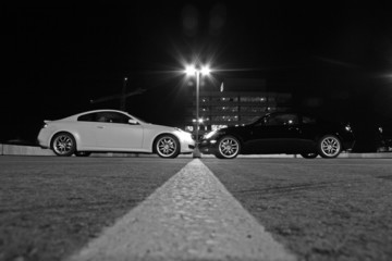 black & white sport coupe