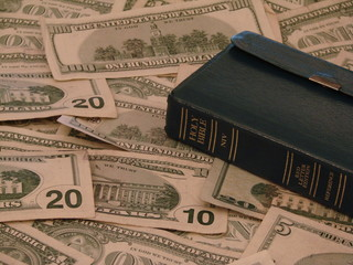 bible and currency