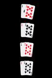 winning combinations on black poster