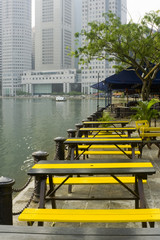 tables by riverside