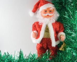 santa claus with two handbells