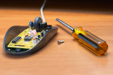 repair of the computer mouse.