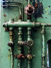 rusty pipes and valves