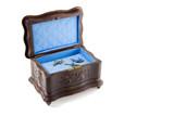 antique jewellery box open poster