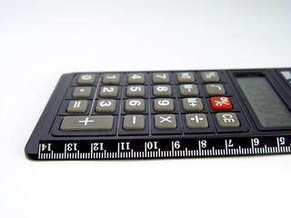 calculator and ruler