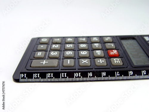 calculator and ruler