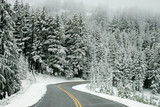 Fototapety snow road 4