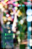 blurred circuit poster