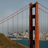 view of san francisco through the golden gate poster