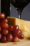 red grapes and sharp cheese poster