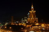Fototapety warsaw in the night