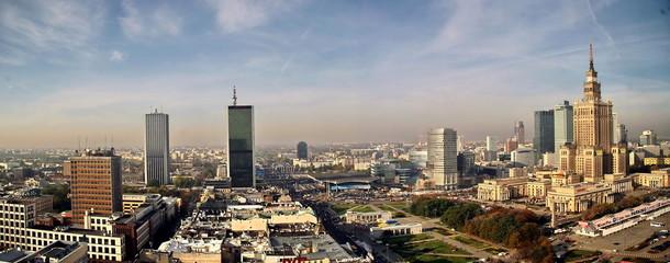 Panorama miasta Warszawa za dnia