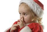 santa helper picking his nose poster